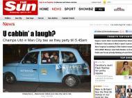 «Sun» mostra jogadores do Man Utd em táxi do rival