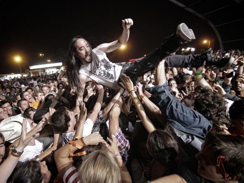 Steve Aoki no Optimus Alive 2011 (foto: Manuel Lino)
