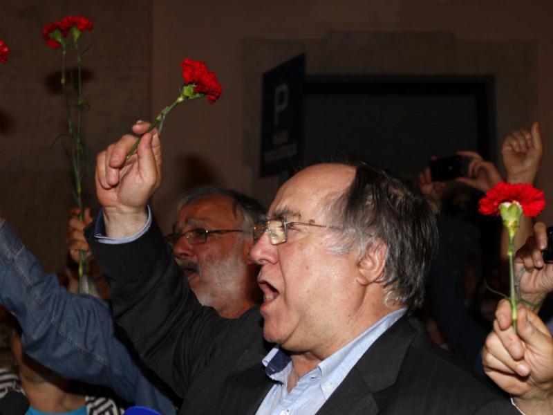 Populares recriaram momentos do 25 de Abril em Lisboa (LUSA)