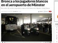 Real Madrid: insultos no aeroporto de Munster (foto Marca.com)