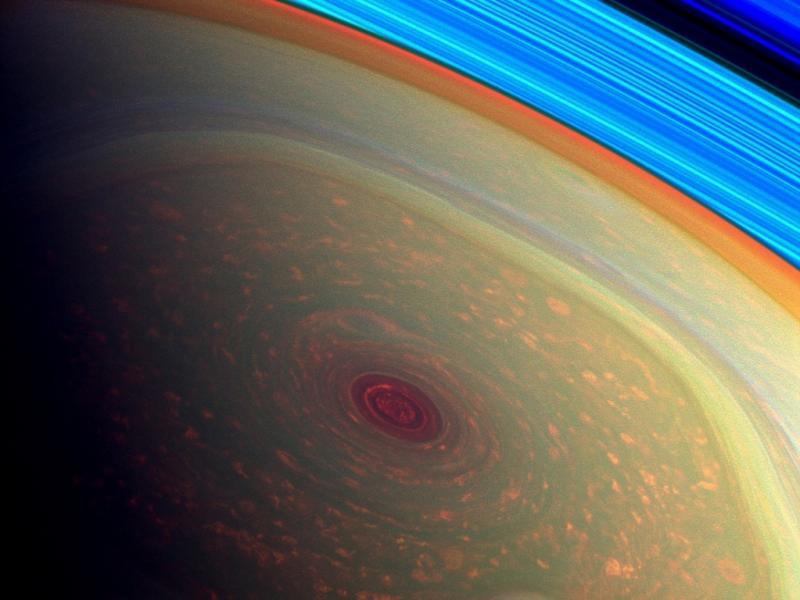 Furacão em Saturno (NASA/JPL-Caltech/SSI )