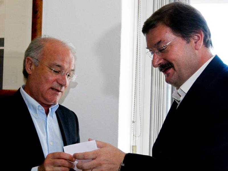 CGTP e UGT reunidas: Arménio Carlos e Carlos Silva (Lusa)