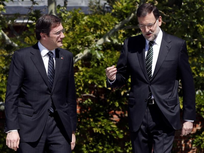 Passos Coelho e Mariano Rajoy, em Madrid (Sergio Barrenechea/Efe/Lusa)