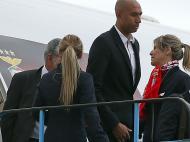 Chegada do Benfica a Amesterdão: