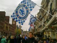 Bar teasers com bandeiras do Chelsea