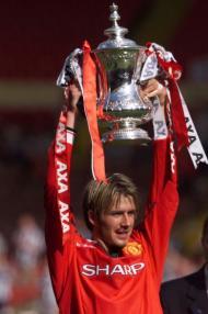 David Beckham: a Taça dos Campeões Europeus, em 1999
