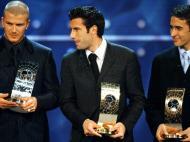 David Beckham: segundo melhor do mundo em 2001, atrás de Figo