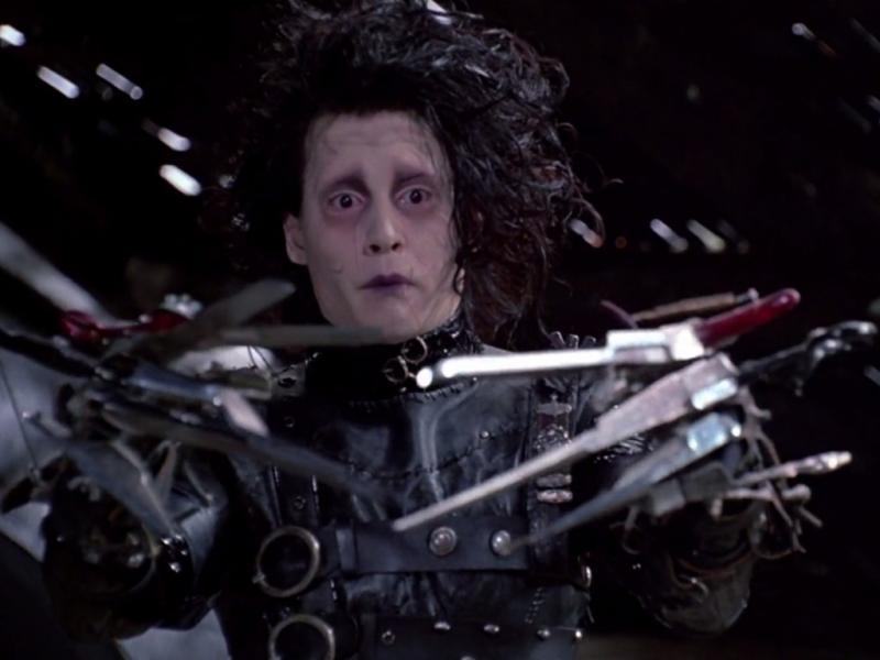 Johnny Depp em «Eduardo Mãos de Tesoura»