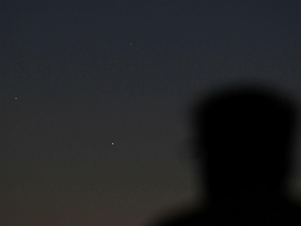 Três planetas alinhados em Nova Iorque (REUTERS/Gary Hershorn)