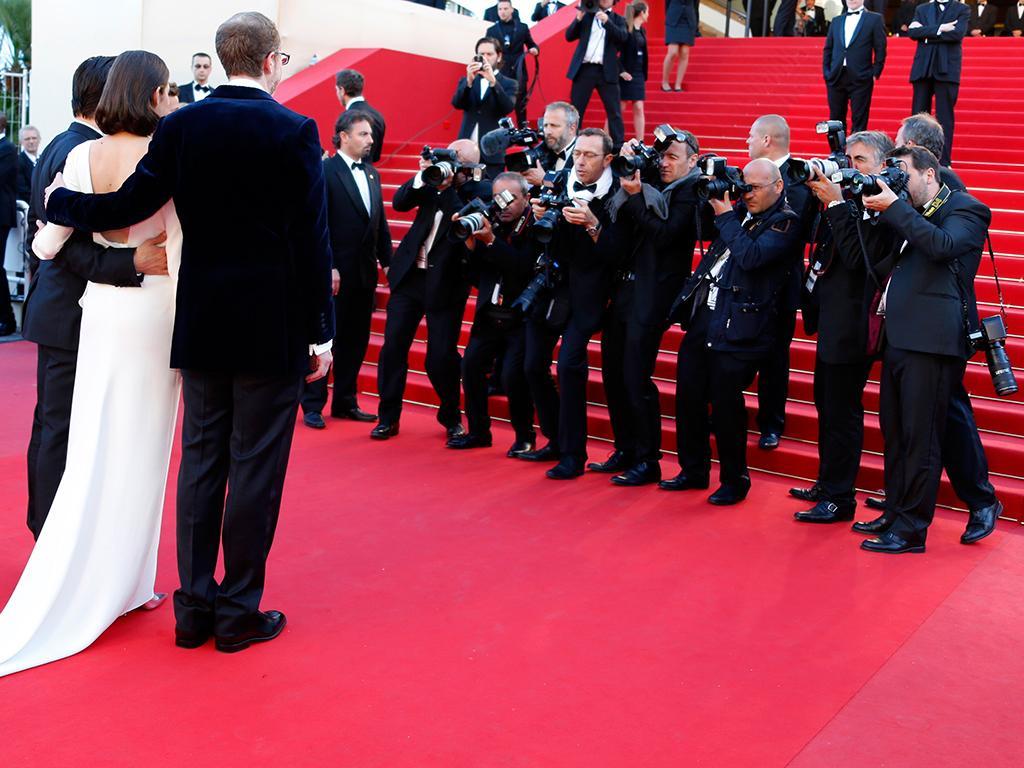 James Gray, Marion Cotillard e Jeremy Renner na apresentação do filme «The Immigrant» no Festival de Cannes 2013 (Reuters)