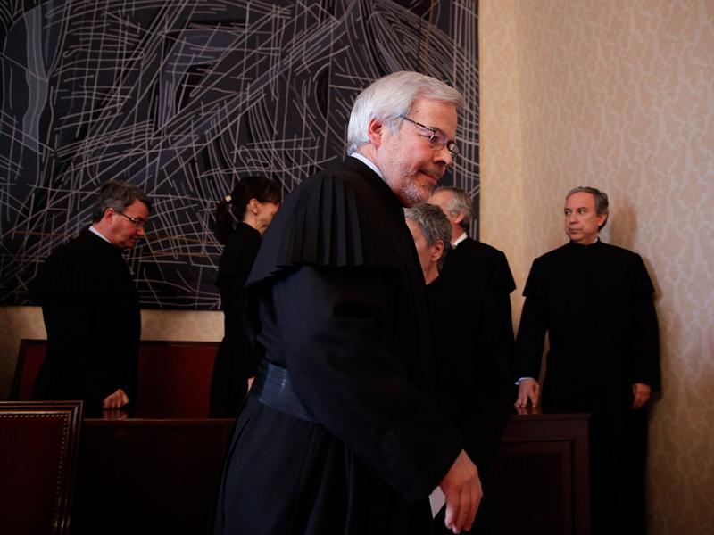 O juiz conselheiro Sousa Ribeiro, presidente do Tribunal Constitucional (TC), declara inconstitucionais entidades intermunicipais (ANDRE KOSTERS/LUSA)
