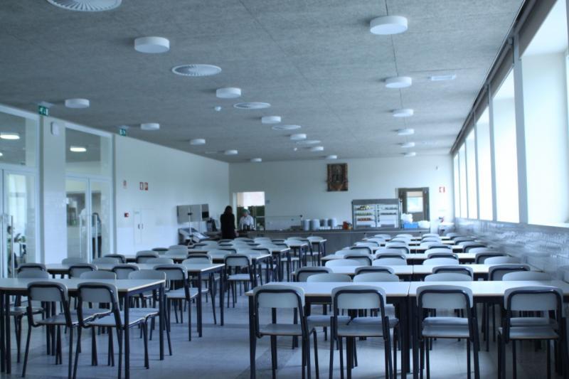 Refeitório da Escola Francisco Arruda em Lisboa (Foto Sara Almeida)