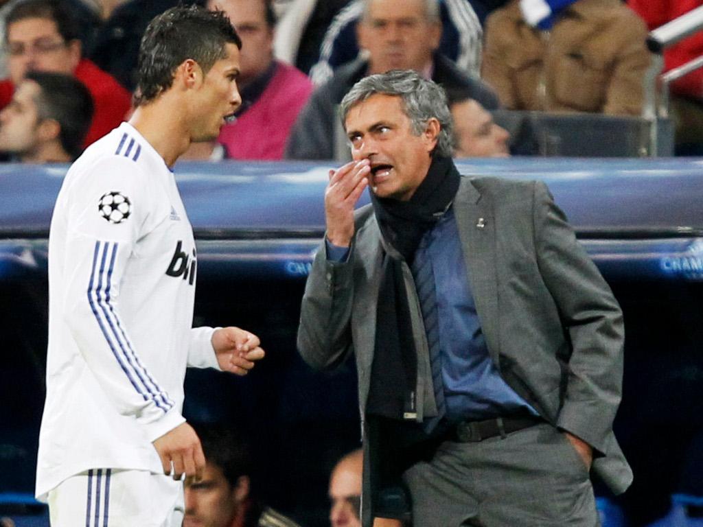 Mourinho e Cristiano Ronaldo