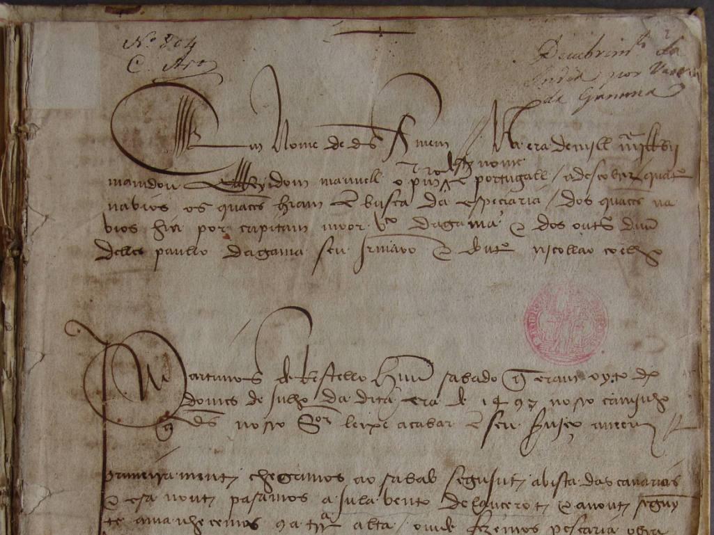 Diário de Vasco da Gama à Índia (Biblioteca Municipal do Porto)