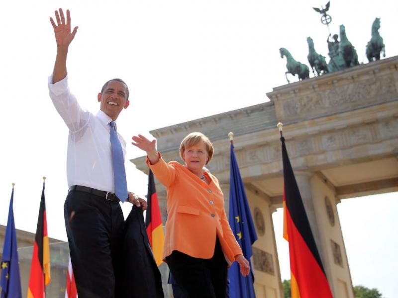 Obama em Berlim (EPA)