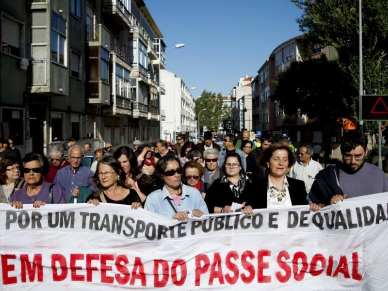 Marcha em defesa do passe social na Amadora (José Sena Goulão/Lusa)