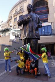 Mandela: omnipresente no Mundial 2010