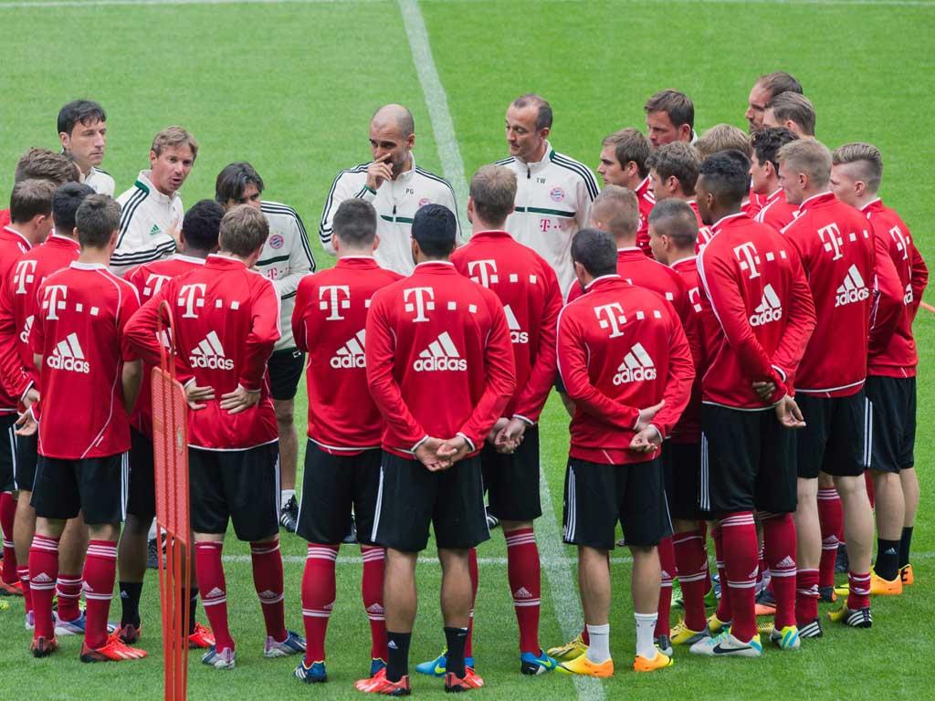Primeiro treino de Guardiola (EPA/Andreas Gebert)