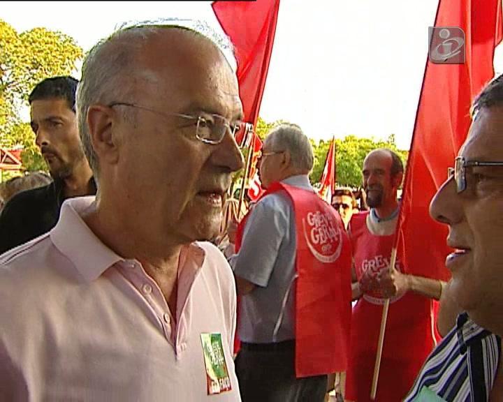 Líderes sindicais desdobraram-se hoje em intervenções