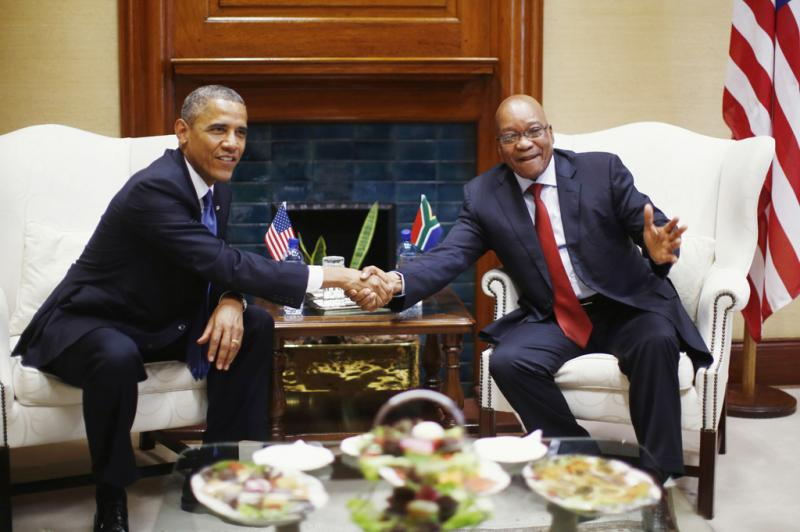 Obama e Zuma - Obama em visita à África do Sul Foto: Reuters