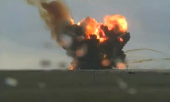 Explosão de foguete russo (Youtube/Reprodução)