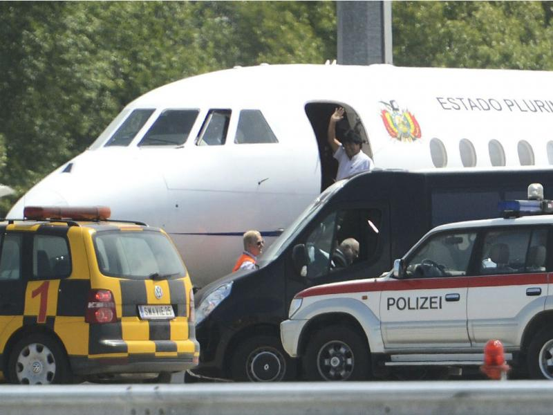 Avião de Evo Morales (EPA)