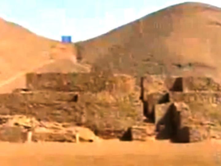 Pirâmide de 4 mil anos destruída no Peru