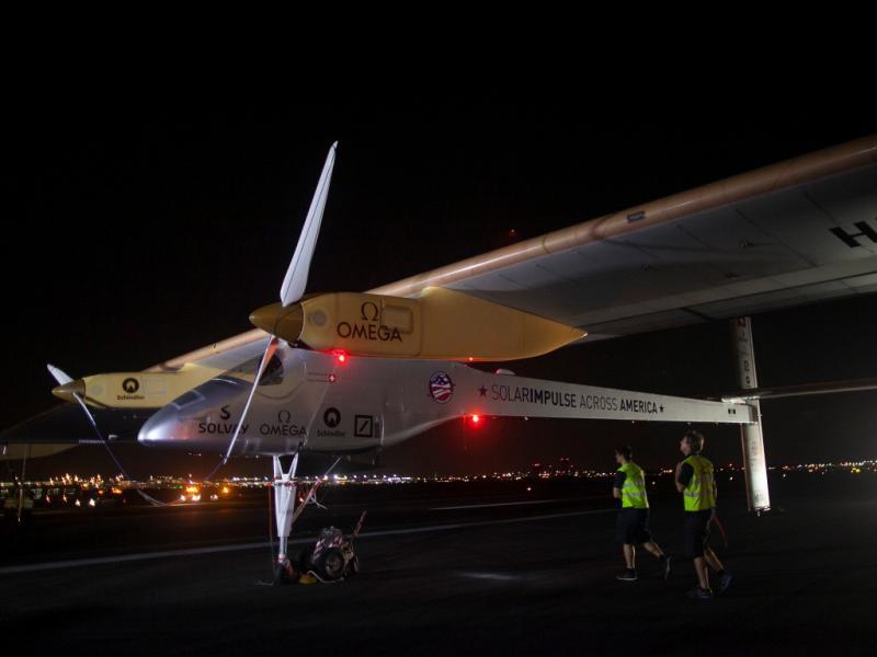 «Solar Impulse» fez viagem transcontinental pelos EUA (Reuters)