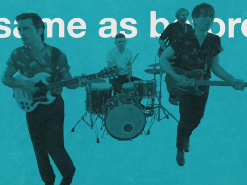 Franz Ferdinand no vídeo de «Right Action»