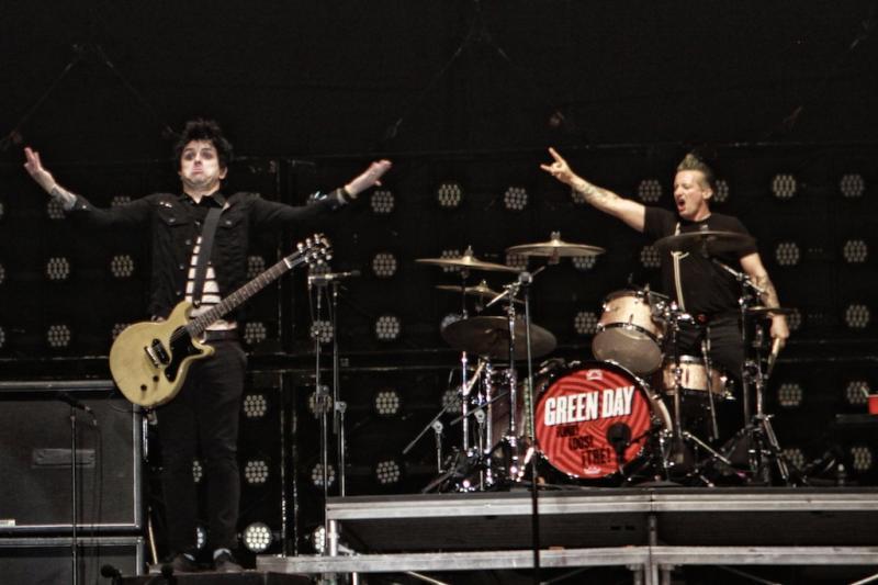 Green Day no Optimus Alive 13 (Foto: Paulo Sampaio)