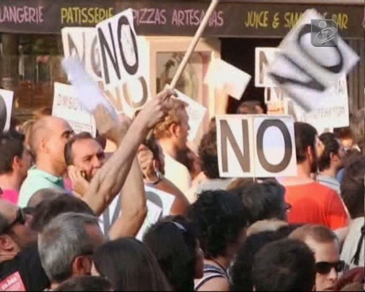 12 feridos e um detido em confrontos em Madrid
