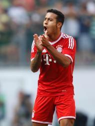 Thiago Alcântara na estreia pelo Bayern