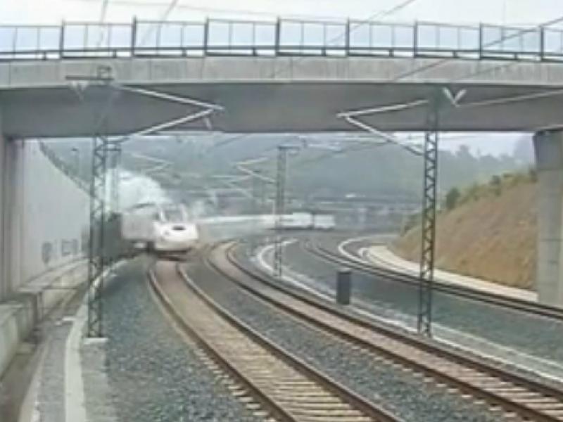 Acidente de comboio na Galiza