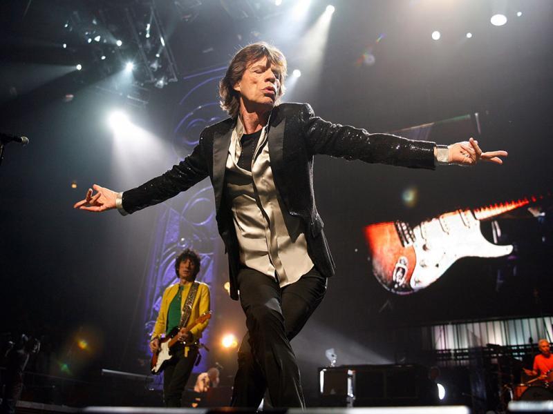 Mick Jagger durante um concerto com a banda Rolling Stones (Reuters)
