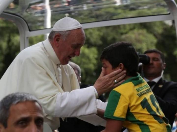 Papa emocionado (Polícia Federal, Brasil)