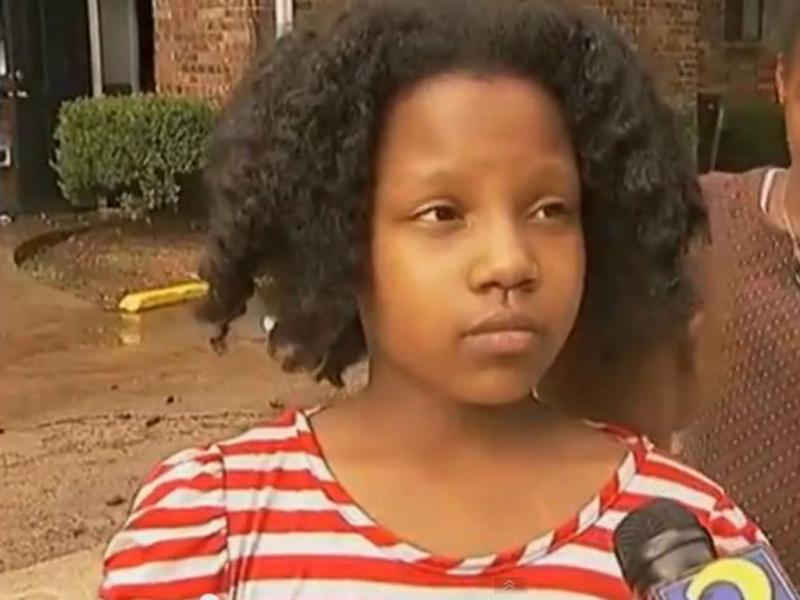 Zna Gresham é heroína aos 10 anos