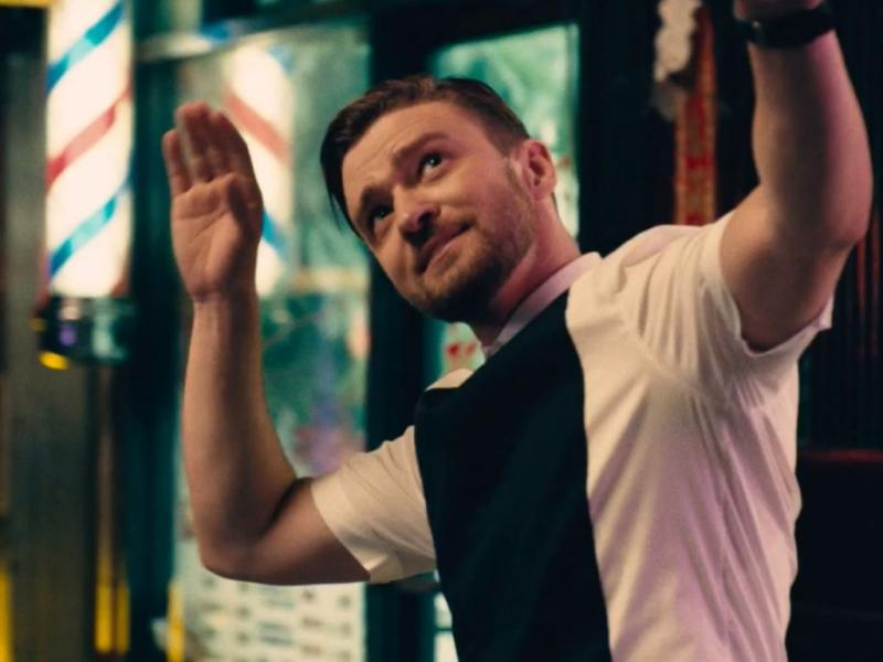 Justin Timberlake no vídeo do single «Take Back The Night»