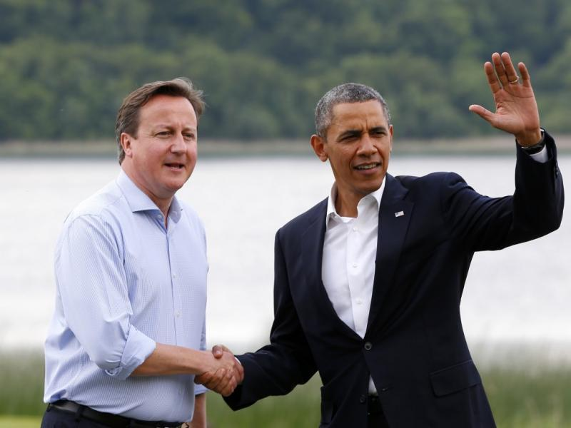 David Cameron e Barack Obama na reunião do G8, na Irlanda do Norte (Reuters)