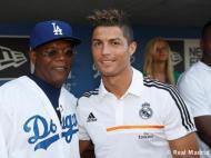 Cristiano Ronaldo com Samuel L. Jackson (Foto Real Madrid)