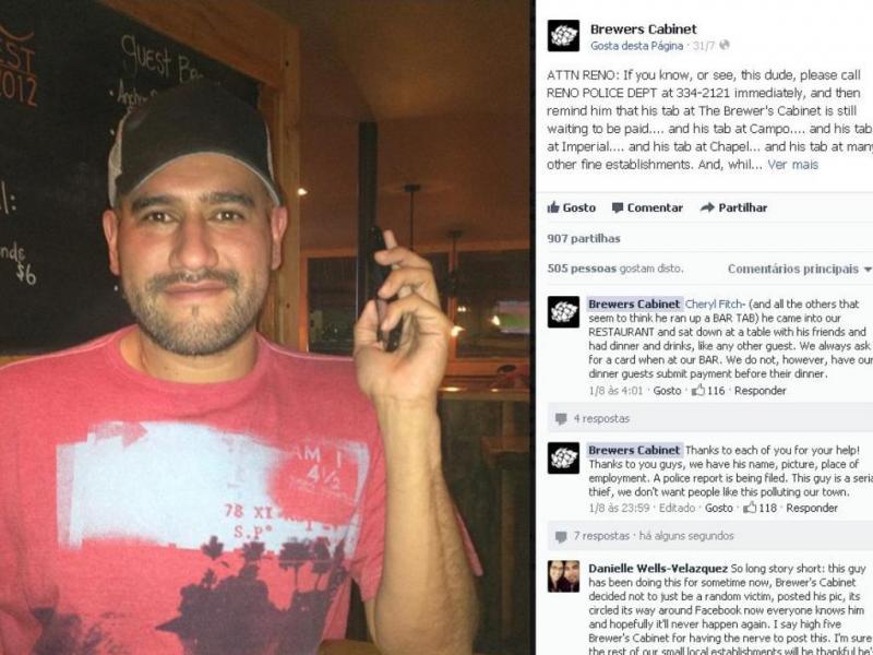 Caloteiro denunciado no Facebook (Reprodução Facebook)