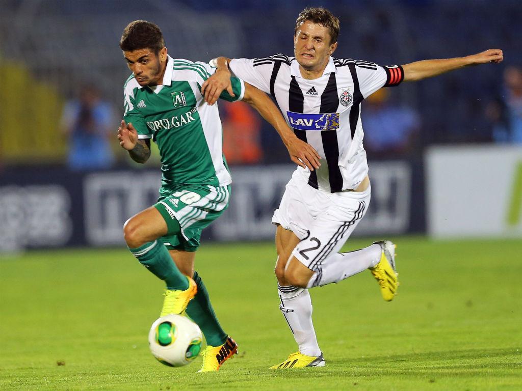 Junior Caiçara no Ludogorets-Partizan (LUSA)