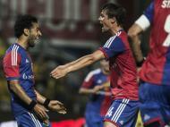 Basileia celebra golo sobre Maccabi Tel Aviv (LUSA)