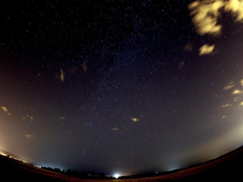 As primeiras imagens da chuva de estrelas (Lusa)