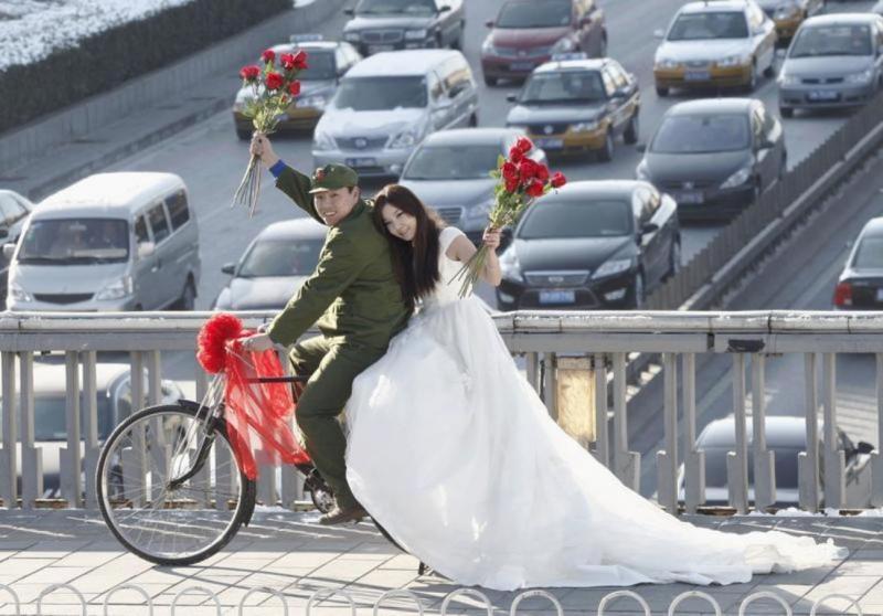Noivos chineses em Pequim
