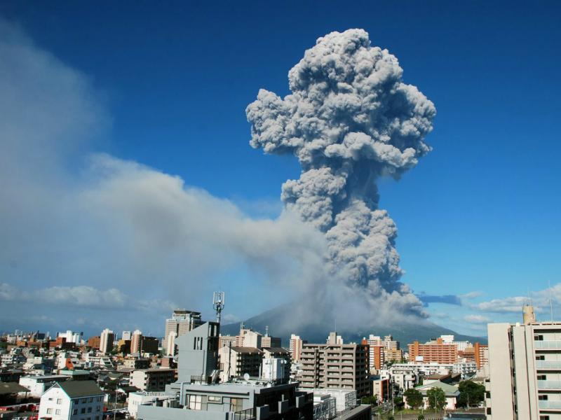 Vulcão Sakurajima entrou em erupção (Lusa)