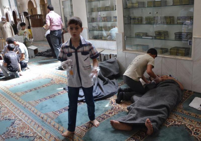 Sobreviventes do alegado ataque químico na Síria [Reuters]