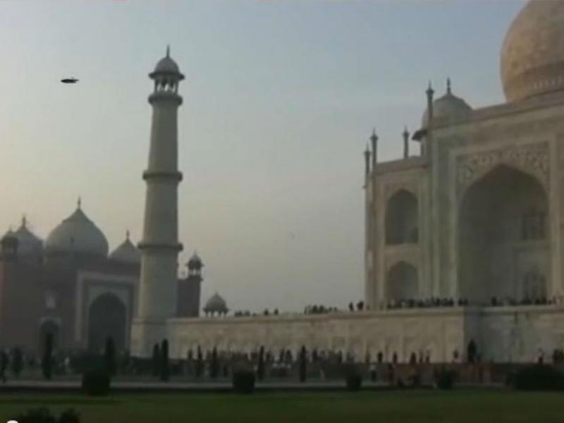 OVNI ao lado do Taj Mahal (Reprodução/Youtube)
