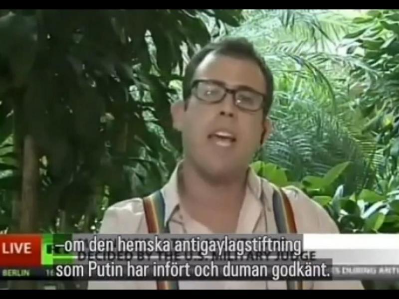 TV russa «cala» jornalista norte-americano gay