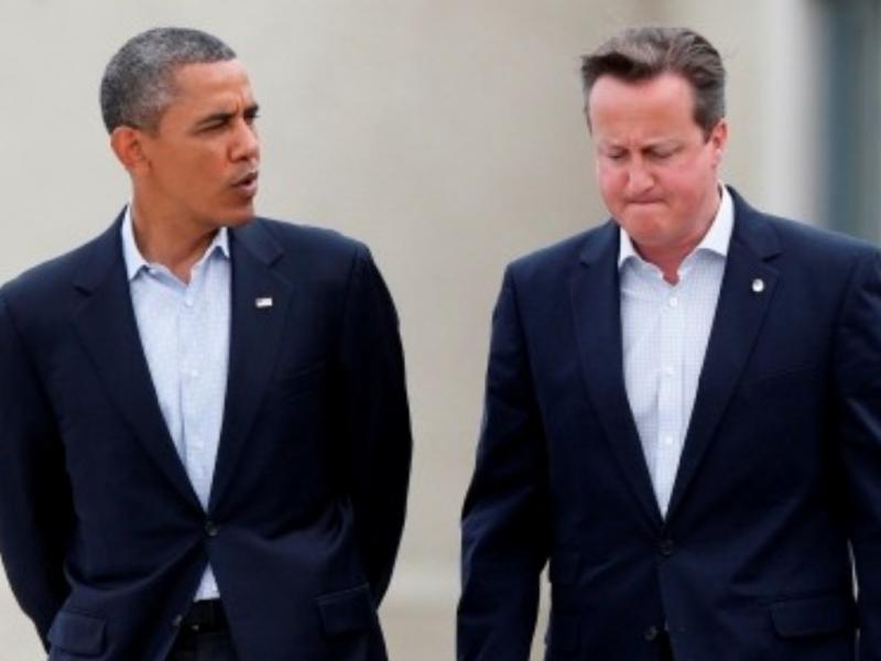 Barack Obama e David Cameron (REUTERS/ Suzanne Plunkett)