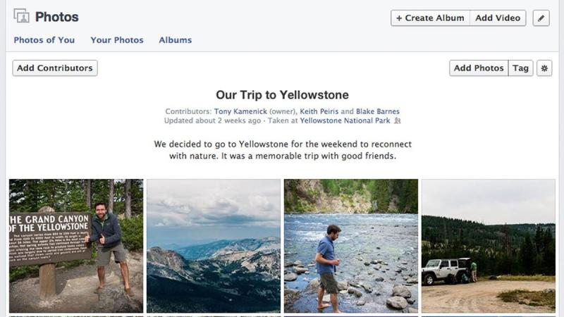 Facebook cria álbum de fotos coletivo